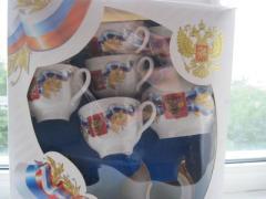 Чайный сервиз с российской символикой