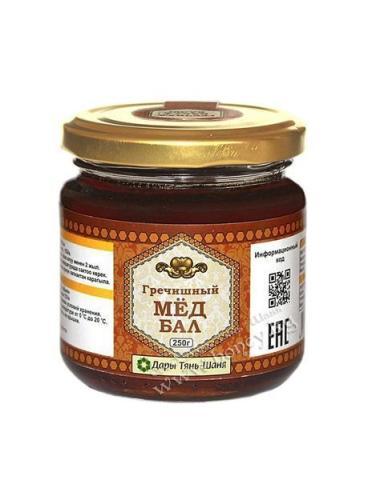 Мед гречишный / 250 г/фасованный /стекло