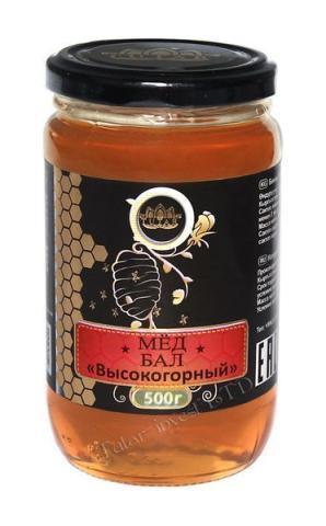 Мед высокогорный /0,5 кг