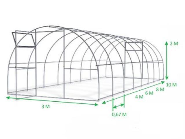 Высококачественная поликарбонатная теплица elite (3х4)