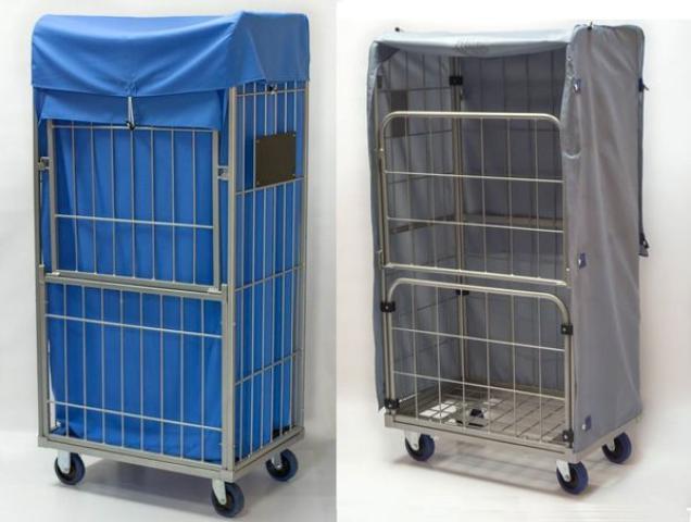 Innen- und außen- textil- containerhauben für gittercontainer