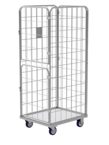 Gitter rollcontainer mit 2 drehenden türen für wäschelogistik