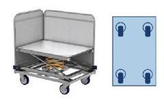 Federbodenwagen (rollwagen, transportwagen) für wäschelogistik. Modell ml 8661-0. 9