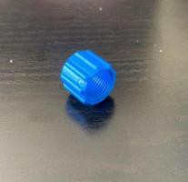 Blaue überwurfmutter
