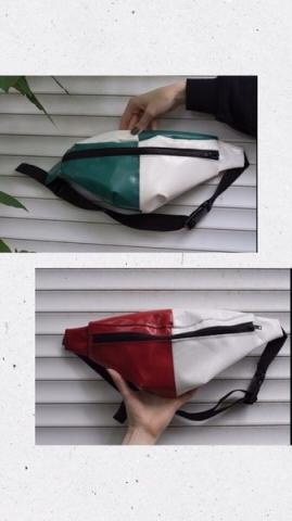 Поясная сумка из переработанного пластика