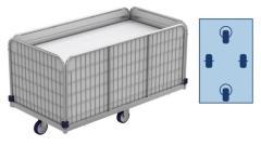 Federbodenwagen, wäschewagen (transportwagen) für wäschelogistik.