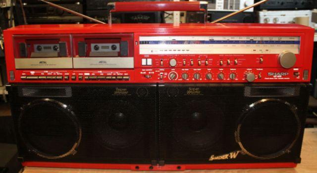 Vintage radio sharp gf 909 red in excellent condition!