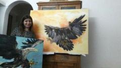 Картина маслом орел