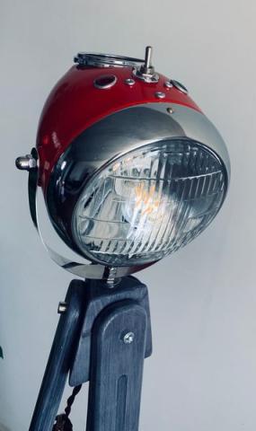 Stehleuchte-scheinwerfer motorrad retro