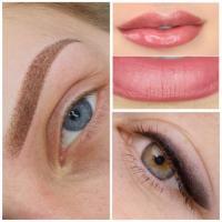 Перманентный макияж губ- век -брови