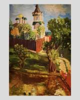 Malerei, öl, leinwand. Russische kirche