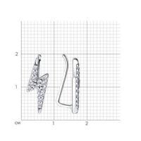 Серьги из серебра с фианитами sklv | ключи & замки