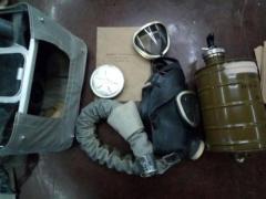 Ip-4m isolierende gasmaske.