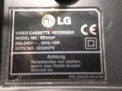 Vodeo cassette recorder  lg model bd200p