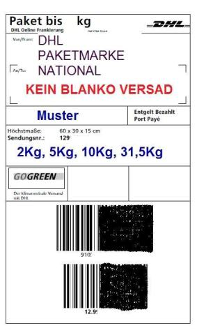 Продам DHL Paketmarken