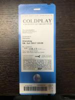 Ticket for Coldplay show