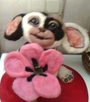 """3. Mogwai """"Gismo"""" ca. 25 cm groß – 35,00 € + Blume 10,00 €"""