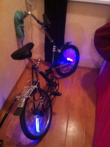 Легендарный Уникальный Ретро Велосипед BMX Складной с крутой ночной подсветкой аренда