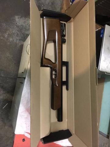 Pneumatisches Gewehr, seine eigene manuelle Produktion. Lieferung ohne Koffer