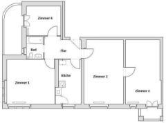 Квартира в Berlin-Steglitz  € 249.970.  93 м². Количество комнат 4