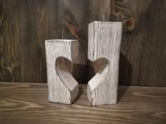 деревянный подсвечник ручной работы