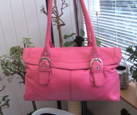 Люкс коження сумка красивый ярко розовый цвет''bijenkorf