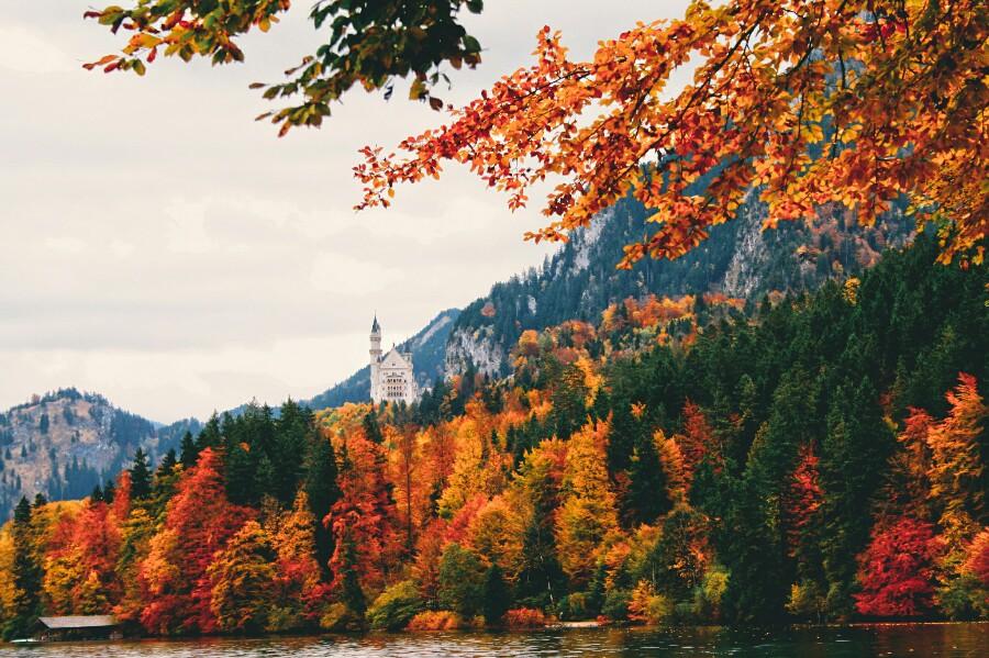 Осень в Германии и замок Нойшванштайн