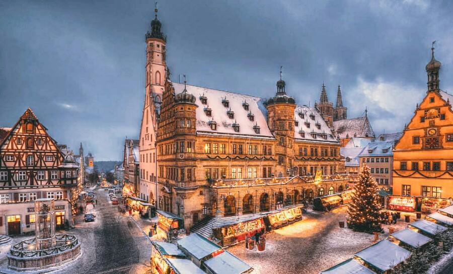 Город Ротенбург в Баварии
